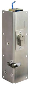 Heavy vertical gate lock